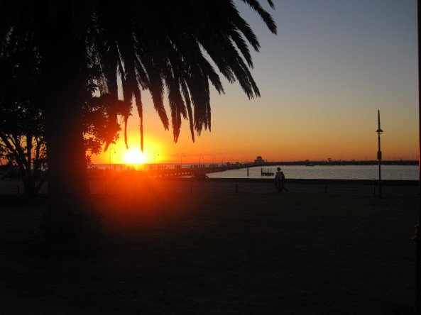 Sunset at St Kilda Beach